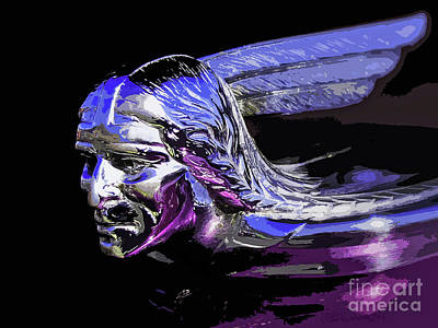 Pontiac Indian Head Hood Ornament Art Print by Patricia L Davidson