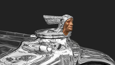 Photograph - Pontiac Indian Radiator Cap by Susan Rissi Tregoning