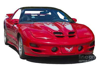 Photograph - Pontiac Trans Am On Transparent Background by Terri Waters