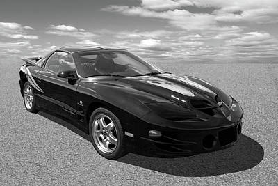 Photograph - Pontiac Trans Am Ram Air In Black And White by Gill Billington