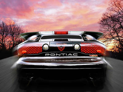 Pontiac Trans Am Rear Lights Art Print