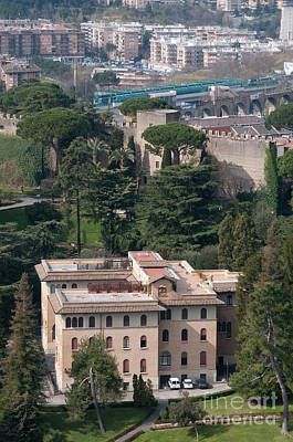 Pontificio Collegio Etiopico Pontifical Ethiopian College Vatican City Gardens Rome Italy Art Print by Andy Smy