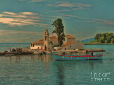 Photograph - Pontikonisi Corfu by Leigh Kemp
