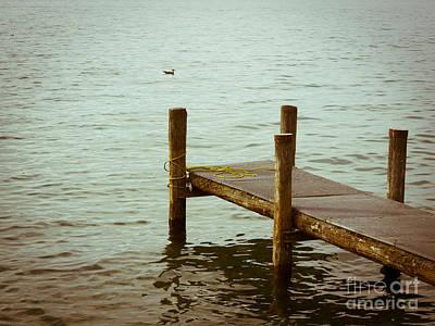 Lake Leman Photograph - Pontoon On Lake Geneva. by Bernard Jaubert