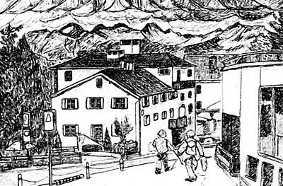 Pontresina Switzerland Art Print by Monica Engeler