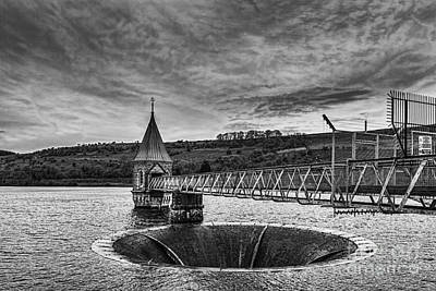 Photograph - Pontsticill Reservoir Valve Tower Mono by Steve Purnell