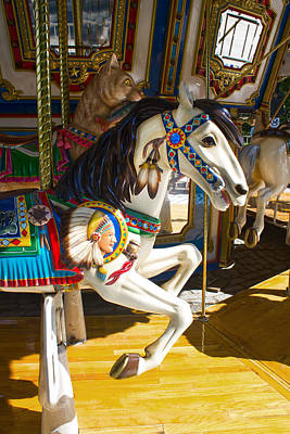 Photograph - Pony And Chief - Carousel Series 07 by Carlos Diaz