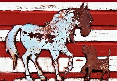 Pony And Pup 3 Art Print