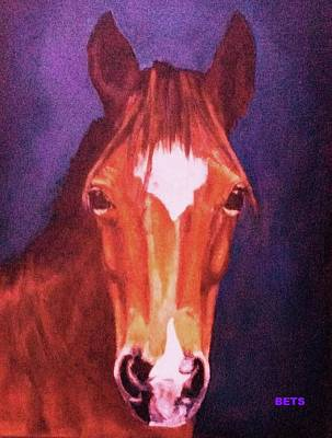 Horse Art Digital Art - Pony Art Pony Painting Mi Amore Orange by Bets Klieger