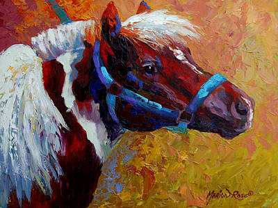 Rodeo Painting - Pony Boy by Marion Rose