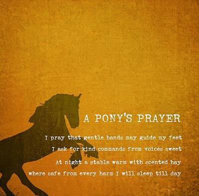 Photograph - Pony Prayer by Jamart Photography