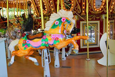 Photograph - Pony Carousel - Pony Series 01  by Carlos Diaz