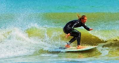 Photograph - Pony Tailed Surfer by Alice Gipson