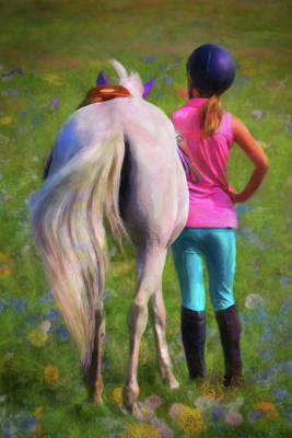 Digital Art - Pony Tales by Posey Clements
