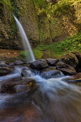 Stream Photograph - Ponytail Falls by David Gn