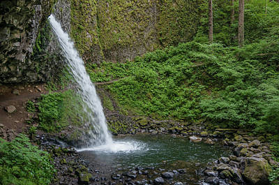 Art Print featuring the photograph Ponytail Falls by Greg Nyquist