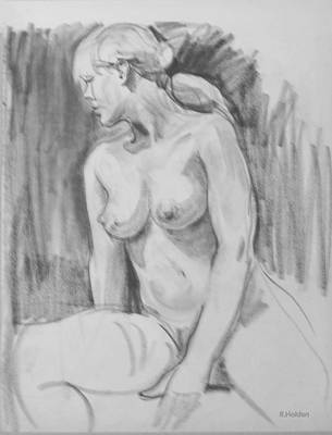 Drawing - Ponytail In Profile by Robert Holden