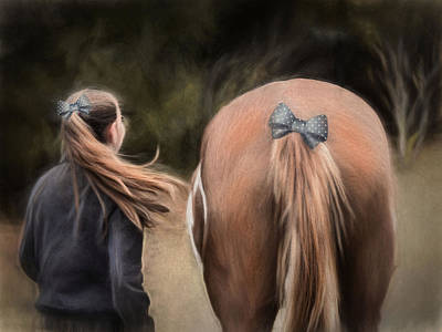 Photograph - Ponytails Forever by Robin-Lee Vieira