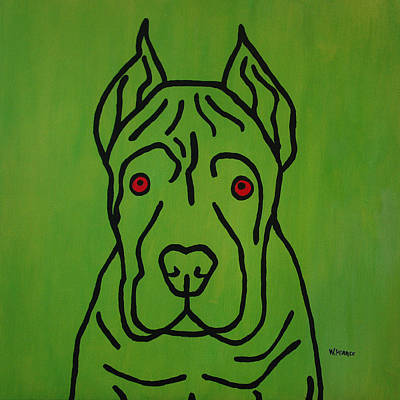 Wall Art - Painting - Pooch Two by Wayne Pearce