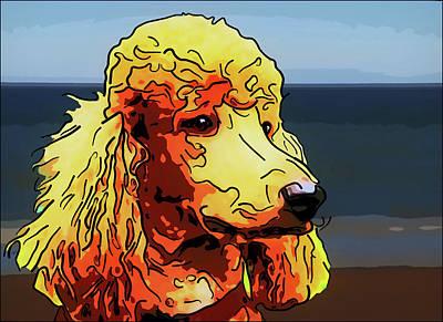 Poodle Art Print by Alexey Bazhan