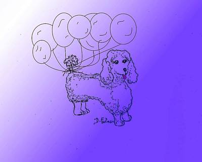 Drawing - Poodle by Denise Fulmer