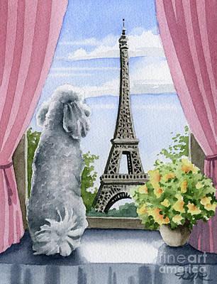 Paris Painting - Poodle In Paris by David Rogers