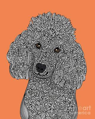 Poodle Wall Art - Digital Art - Poodle by MGL Meiklejohn Graphics Licensing