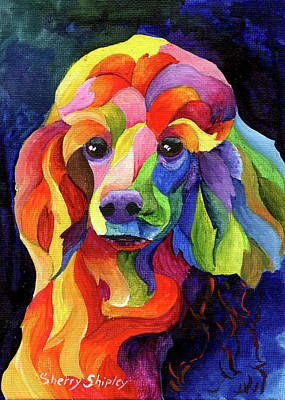 Painting - Poodlle Two by Sherry Shipley