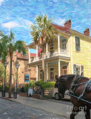 Photograph - Poogans Porch In Charleston Sc by Dale Powell