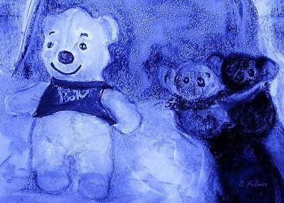 Drawing - Pooh Bear And Friends by Denise Fulmer