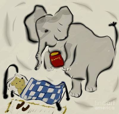 Photograph - Pooh Dreams About Heffalumps by Susan Garren