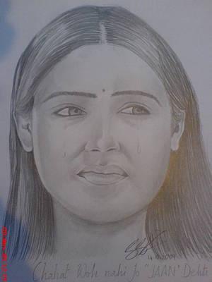 Catherine Jackson Painting - Pooja Bose  by Sandeep Kumar Sahota