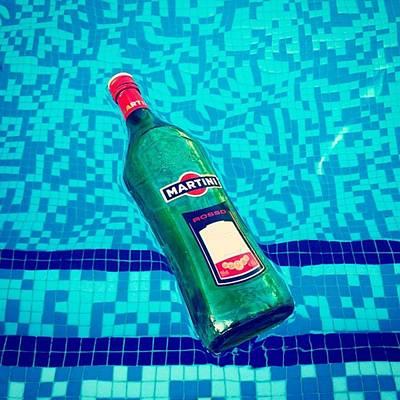 Martini Photograph - Pool & Martini by Mikel Codosero Martin