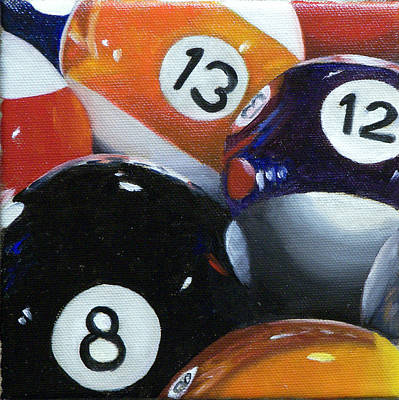 Painting - Pool Balls 1 by Kathy Lumsden