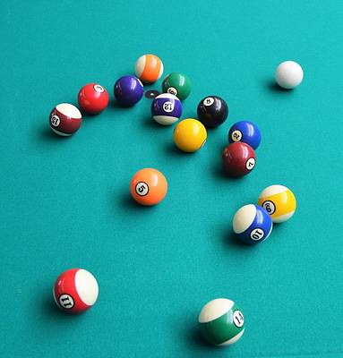 Photograph - Pool Balls by Charles HALL