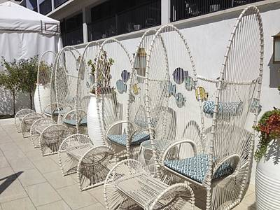 Photograph - Pool Chairs by Diane Leone