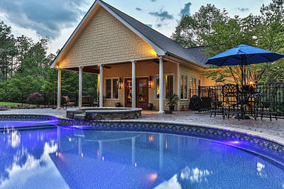 Photograph - Pool House by Jimmy McDonald