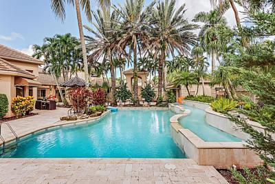 Photograph - Pool House by Jody Lane