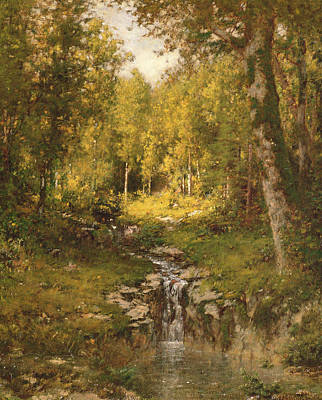 Fresh Water Painting - Pool In The Woods by Alexander Helwig  Wyant