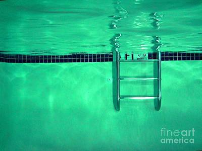Swim Ladder Photograph - Pool Ladder by Ben Schumin
