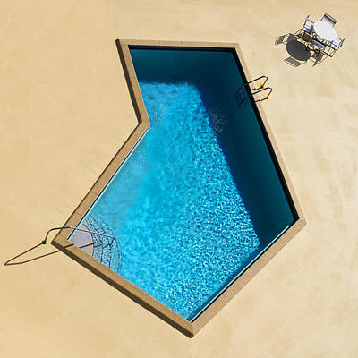 Houses Photograph - Pool Modern by Laura Fasulo
