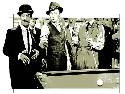 Frank Sinatra Digital Art - Pool Sharks by Greg Joens