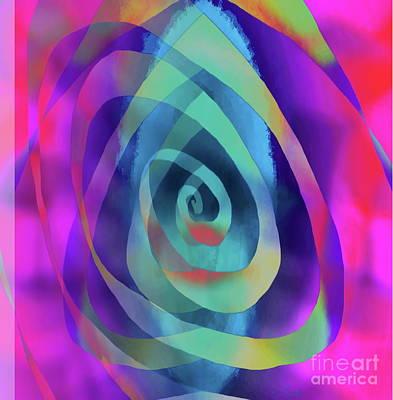 Digital Art - Pool Spiral by Expressionistart studio Priscilla Batzell