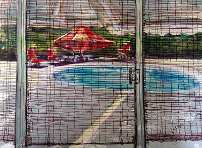 Painting - Pool View by Lynne Haines