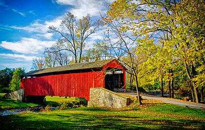 Photograph - Poole Forge Covered Bridge by Carolyn Derstine