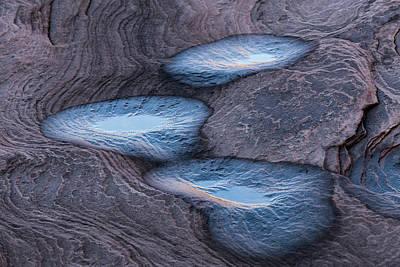 Pooled Blue Art Print