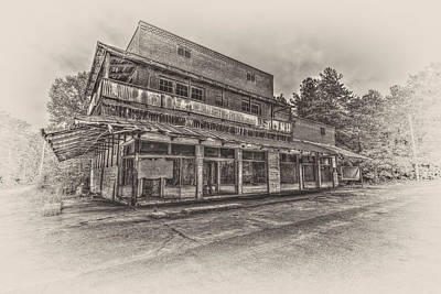 Photograph - Poole's Crossroads In Sepia by Harry B Brown