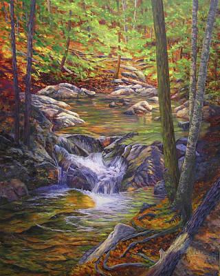 Basin Park Painting - Pools Of Color, The Basin,  by Elaine Farmer