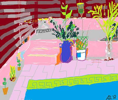 Poolside Art Print by Anita Dale Livaditis
