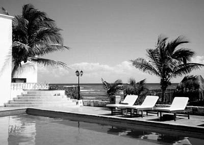 Photograph - Poolside B-w by Anita Burgermeister